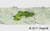 Satellite Panoramic Map of Yen Son, lighten