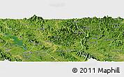 Satellite Panoramic Map of Yen Son
