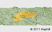 Savanna Style Panoramic Map of Yen Son