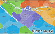 Political Shades 3D Map of Vinh Long