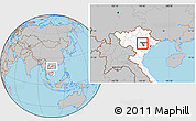 Gray Location Map of Me Linh, highlighted country