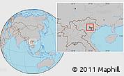Gray Location Map of Tam Dao