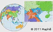 Political Location Map of Tam Dao