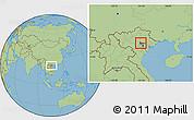 Savanna Style Location Map of Tam Dao