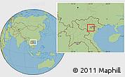 Savanna Style Location Map of Tam Thanh