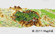 Satellite Panoramic Map of Mu Cang Chai, physical outside