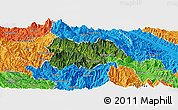 Satellite Panoramic Map of Mu Cang Chai, political outside