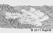 Gray Panoramic Map of Yen Bai