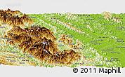 Physical Panoramic Map of Yen Bai