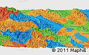 Political Panoramic Map of Yen Bai