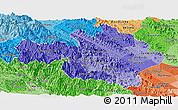 Political Shades Panoramic Map of Yen Bai