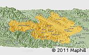 Savanna Style Panoramic Map of Yen Bai