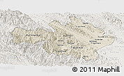 Shaded Relief Panoramic Map of Yen Bai, lighten