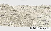 Shaded Relief Panoramic Map of Yen Bai