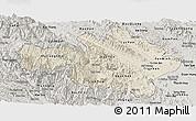 Shaded Relief Panoramic Map of Yen Bai, semi-desaturated