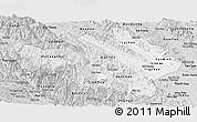 Silver Style Panoramic Map of Yen Bai
