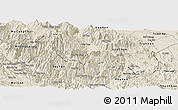 Shaded Relief Panoramic Map of Tram Tau