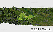Satellite Panoramic Map of Tran Yen, darken