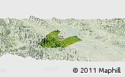 Satellite Panoramic Map of Tran Yen, lighten