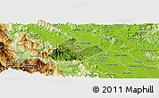 Satellite Panoramic Map of Tran Yen, physical outside