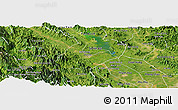 Satellite Panoramic Map of Tran Yen