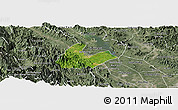 Satellite Panoramic Map of Tran Yen, semi-desaturated