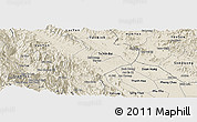 Shaded Relief Panoramic Map of Tran Yen
