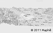 Silver Style Panoramic Map of Tran Yen