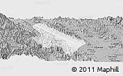 Gray Panoramic Map of Van Yen