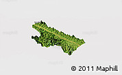 Satellite Panoramic Map of Van Yen, cropped outside