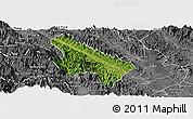 Satellite Panoramic Map of Van Yen, desaturated