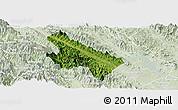 Satellite Panoramic Map of Van Yen, lighten