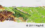 Satellite Panoramic Map of Van Yen, physical outside