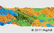 Satellite Panoramic Map of Van Yen, political outside