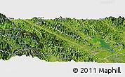 Satellite Panoramic Map of Van Yen