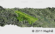 Satellite Panoramic Map of Van Yen, semi-desaturated