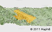 Savanna Style Panoramic Map of Van Yen