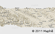 Shaded Relief Panoramic Map of Van Yen