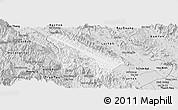 Silver Style Panoramic Map of Van Yen