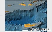 Political Shades 3D Map of Virgin Islands, darken