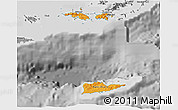 Political Shades 3D Map of Virgin Islands, desaturated
