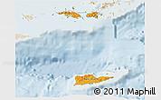 Political Shades 3D Map of Virgin Islands, lighten