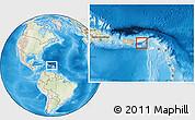 Physical Location Map of Virgin Islands, lighten, land only