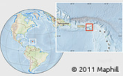 Physical Location Map of Virgin Islands, lighten