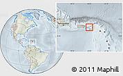 Physical Location Map of Virgin Islands, lighten, semi-desaturated