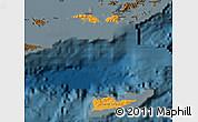 Political Shades Map of Virgin Islands, darken