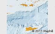 Political Shades Map of Virgin Islands, lighten