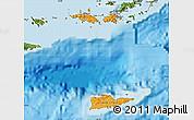 Political Shades Map of Virgin Islands, satellite outside, bathymetry sea
