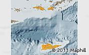 Political Shades Map of Virgin Islands, semi-desaturated
