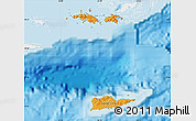 Political Shades Map of Virgin Islands, single color outside